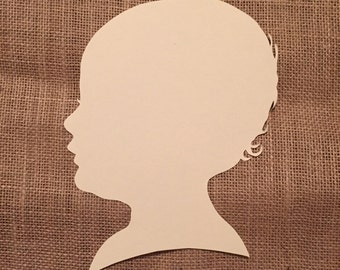 Hand Cut Paper Silhouette