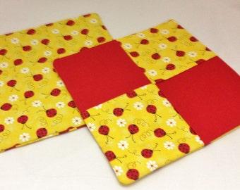 Potholder/Trivet Set- Ladybug & Red