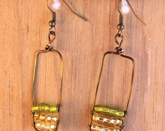 Framed Ombre Earrings