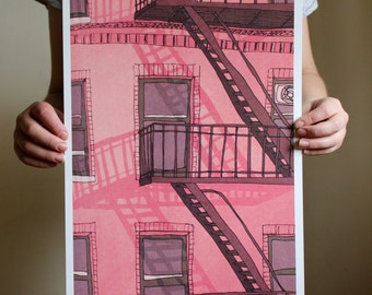 New York Building - A3 Print