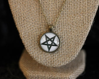 White and Black Inverted Pentacle