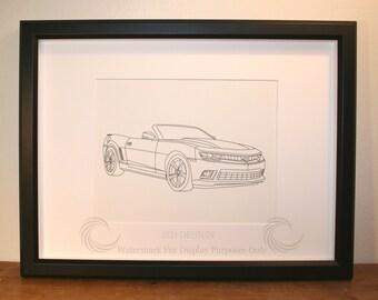 Camaro, Picture, Framed, Digital Art, Cars