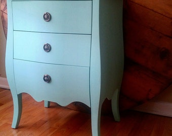 Dresser, wintage, turquoise, furniture, night stand