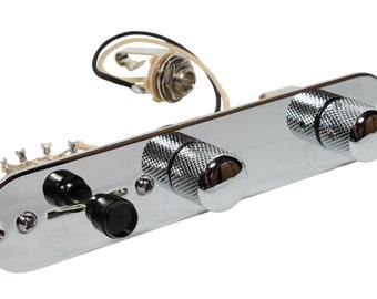 Fender Nashville Telecaster Electric Guitar Loaded 7 Way Control Plate, Chrome - 920D Custom
