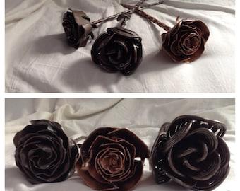 Hand-Formed Metal Rose
