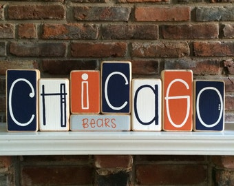 Chicago Bears Decorative Blocks
