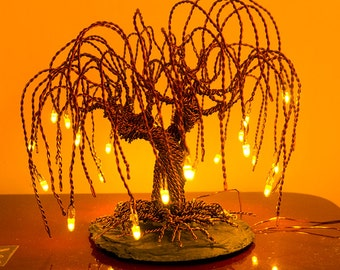 Illuminating small standing wire tree