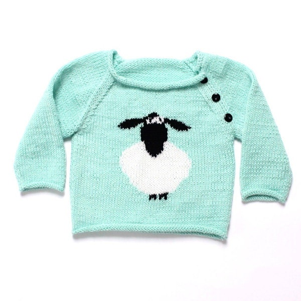 Sheep Knitting A Sweater : Hand knitted sweater with sheep vest