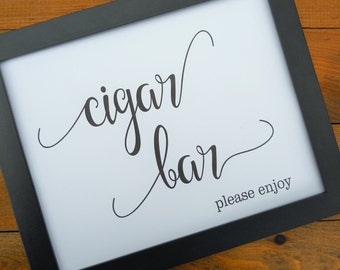 Wedding Sign, CIGAR BAR SIGN, Wedding Signs, Reception Decor, Wedding Signage, Wedding Decorations, Wedding Decor, Cigar Bar
