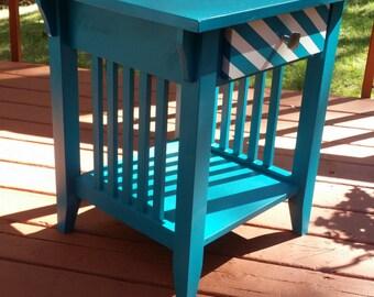 Lagoon Blue End Table