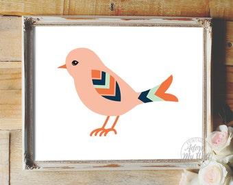 Nursery decor, nursery art, bird print, nursery wall art, bird, bird art, wall art, nursery print, baby girl nursery, nursery, birds, print