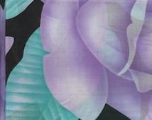cotton fabric, batiste, big floral print