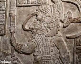 Maya Lintel, British Museum, March 2015 (Two Print Sizes Available)