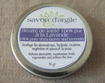 Fair trade and organic Lavender Shea butter