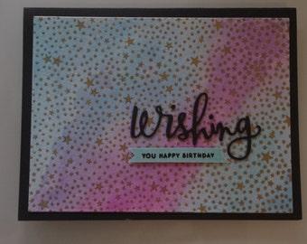 Birthday card - starry sky