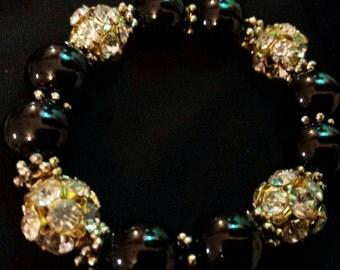 Black onyx Glass beaded Bracelet