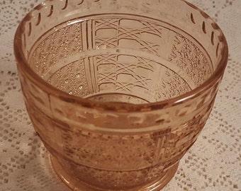 KIG Glass Bowl Dish Peach Pink