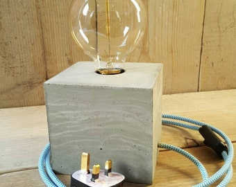 Concrete Lamp, Lamp, Industrial light, Industrial Lamp, Steampunk lamp, desk lamp with Edison bulb
