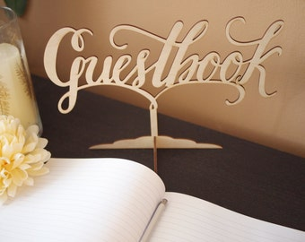 Guestbook sign laser cut