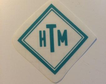 Diamond Monogram Decal - Sticker