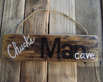 Man Cave personalized sign | Custom man cave sign | Reclaimed pallet sign | Fathers Day gift | Grandfather sign | Man cave sign | Dad sign