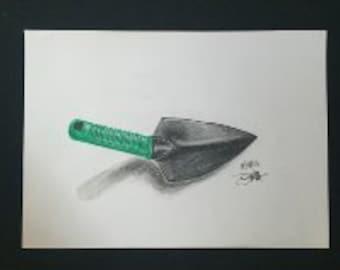 Drawing - Garden Trowel