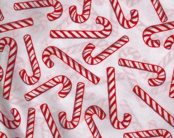 Candy Cane Candycane White Fabric, Quilt or Craft Cotton Fabric