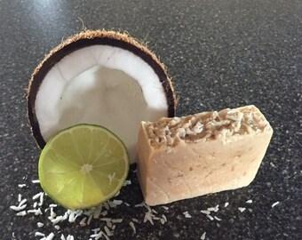 Homemade Goat's Milk Soap - Coconut Citrus Sorbet