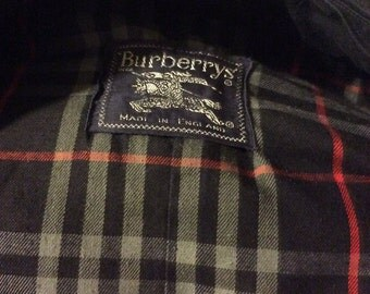 Authentic Burberry navy trench coat