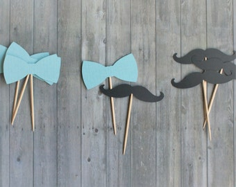 Cupcake Toppers, Little Man Baby Shower, Little Man Party, Little Man Party Decorations, Mustache Cupcake Toppers, Baby Boy Birthday