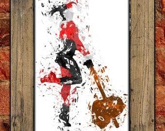 Harley Quinn Spatter Art