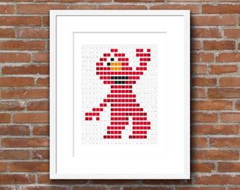 Sesame Street Elmo Pantone Art