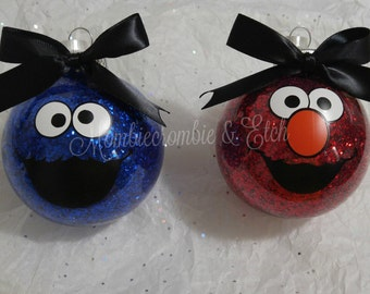 Elmo or Cookie Monster ornament