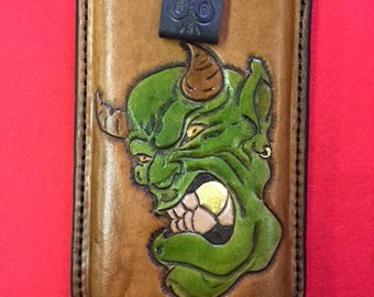 Hand Carved Leather Iphone 6 case