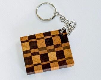 Keychain Walnut and Cherry