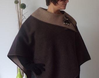 Cape poncho woolen.