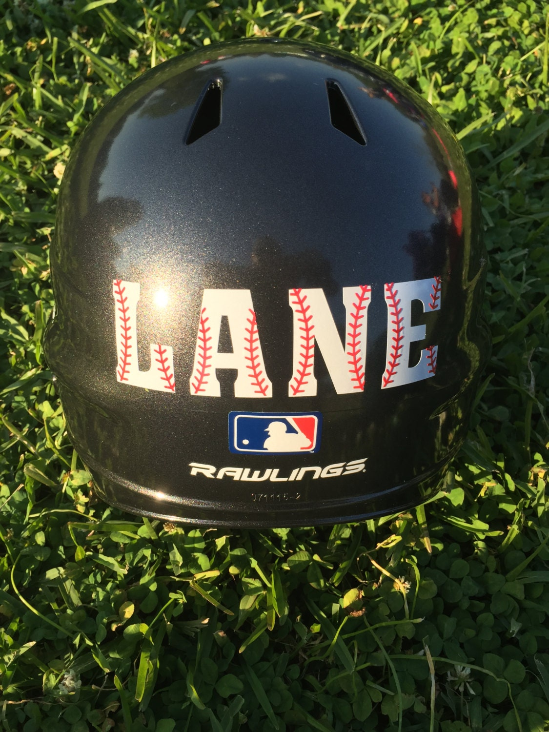 Baseball Helmet Decal Personalized Baseball Helmet Decal - Custom vinyl baseball decals