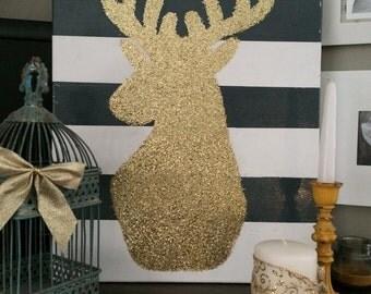 Glitter Deer Canvas
