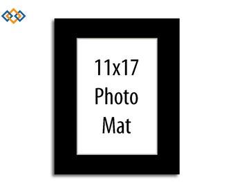 Custom 11x17 Mat - (WHITE CORE) Rectangle Photo Mats