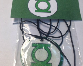 Green Lantern charm necklace party favor