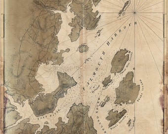 1770 Map of Falmouth Harbour Maine
