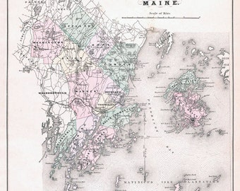 1887 Map of Knox County Maine