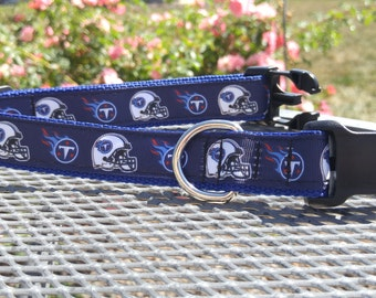 Tennessee Titans NFL inspired dog collar