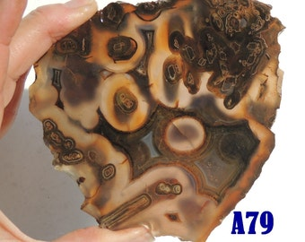 Turkish agate slab A79 204 grams Grade A  lapidary display