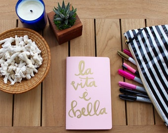 Hand lettered notebook
