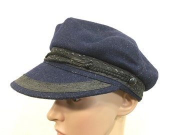 70's vintage wool fisherman hat newsboy hat caps size 6 7/8
