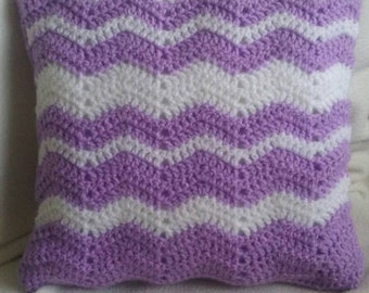 Crochet cushion/pillow. Handmade, pastels and available with or without a cushion inner.