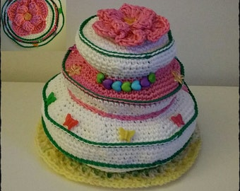 Crochet 3 Tier Cake