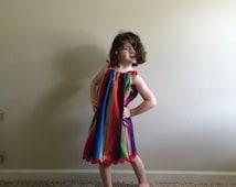 Woven serape girls handmade to order dress