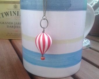 Hot air balloon. Necklace.